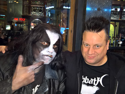 Abbath (ex-Immortal) and KP, London 2016