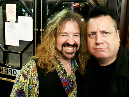 Warner E. Hodges (Jason and The Scorchers) and KP, London 2019