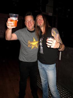 KP, Pontus Snibb (Jason & The Scorchers drummer), London 2012.