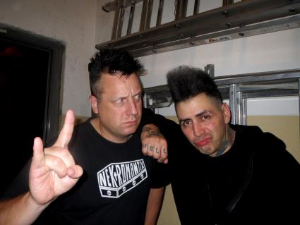 KP and Kim (Nekromantix, Hamburg 2013)