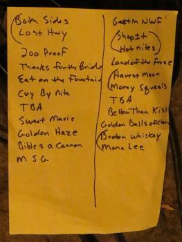 Jason & The Scorchers, Sankt Gertrud, Malmö, Sweden, Setlist, 2012-09-13