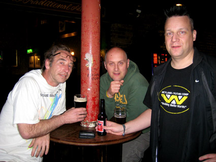 John, ?, KP @ World's End (pre-gig)